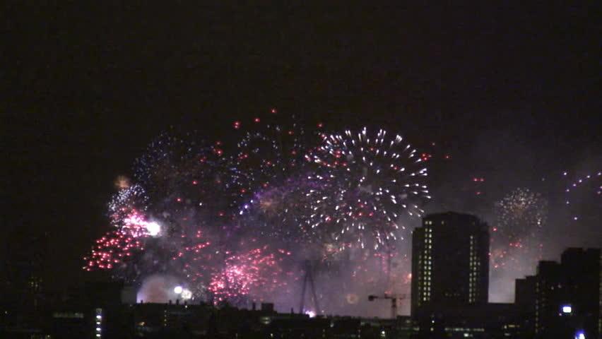 London Eye fireworks