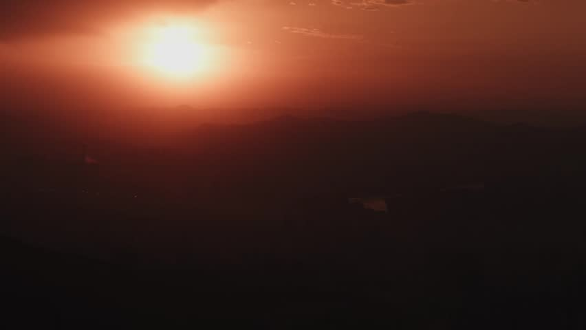 Timelapse of the Sun setting over Lanzhou