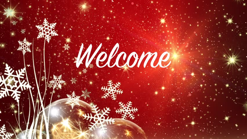 Welcome Christmas.Winter Holidays Welcome Background Red Stock Footage Video 100 Royalty Free 20807320 Shutterstock