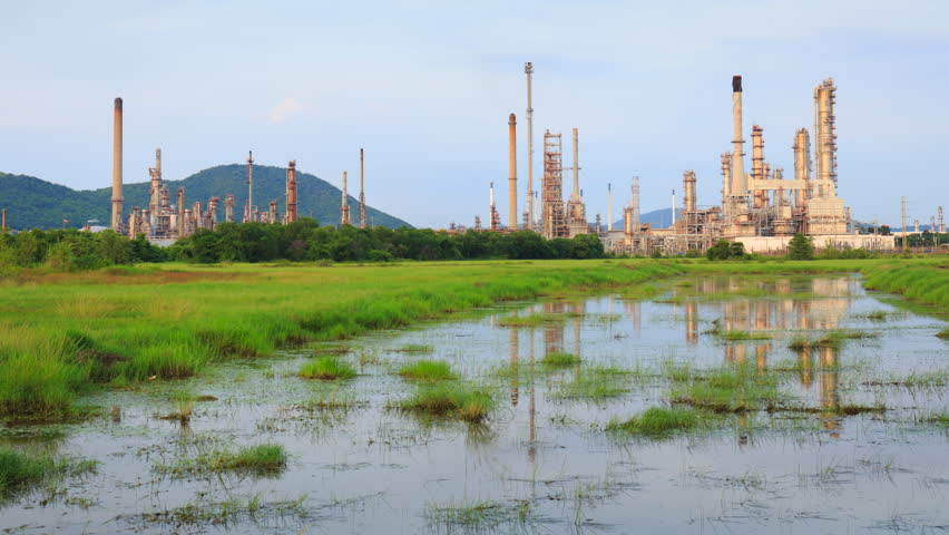 4K Time Lapse : Sriracha Refinery, Laem Chabang, Thailand- October 10, 2016, Petrochemical industrial with landscape background in Si Racha District, Chon Buri , Thailand | Shutterstock HD Video #20814100