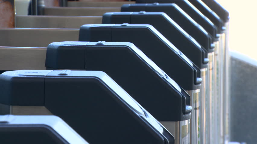 close up of ticket barriers