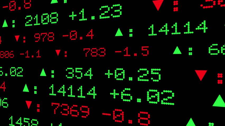 Custom Made Stock Ticker Symbols Stock Footage Video 100 Royalty