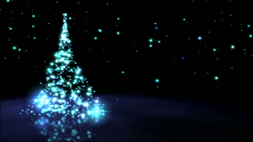 Sparkling Christmas Tree Animation - Loop Blue   Shutterstock HD Video #20842480