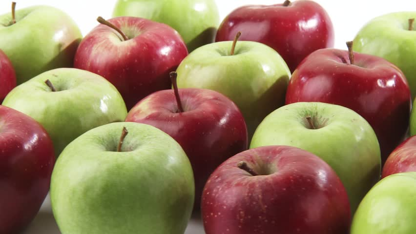 Red and green apples in rows | Shutterstock HD Video #2093690