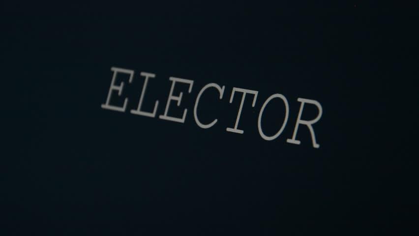 Header of elector
