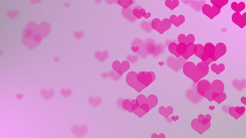 Abstract Background - Valentines Day Theme - Flying Hearts On The ...