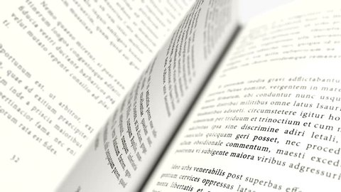 3D animation of a book that opens page by page