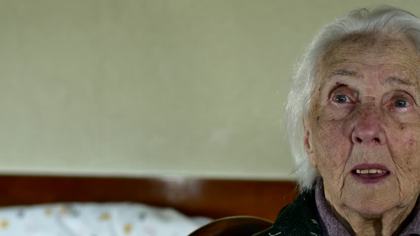 Portrait Of A Hundred Years Old Woman, Centenarian, Pan