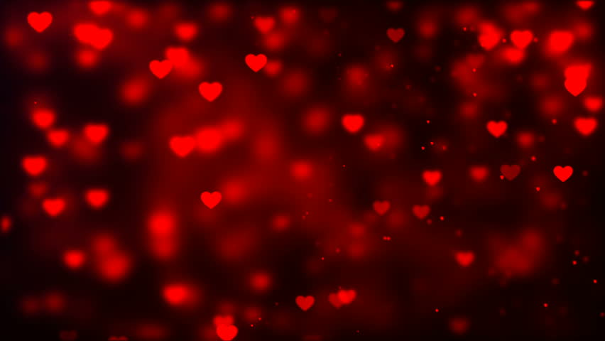 Valentines Day Background Flying Abstract Stock Footage Video 100