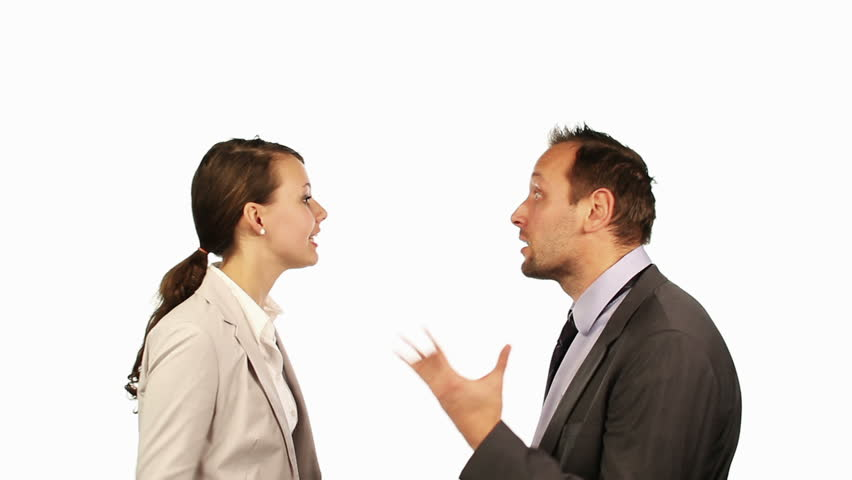 Video Of Two Business People Talking Stock Footage Video ...
