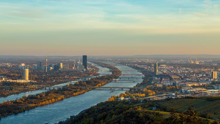 Vienna Skyline, Day to Night timelapse of Vienna Austria in 4K. | Shutterstock HD Video #21087892