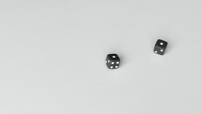 Dice Roll Snake Eyes - Pair Of Ones - Black And White With Plenty ...