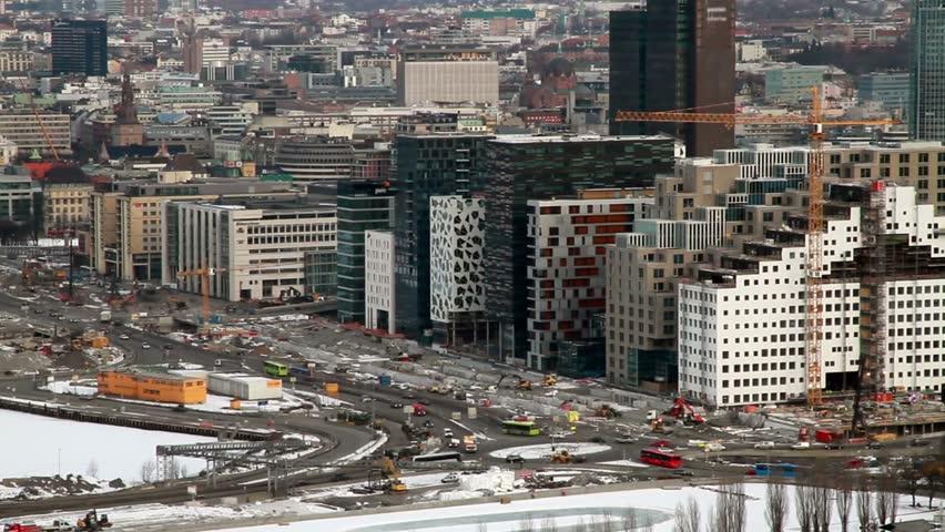 Morning traffic Oslo, Norway.
