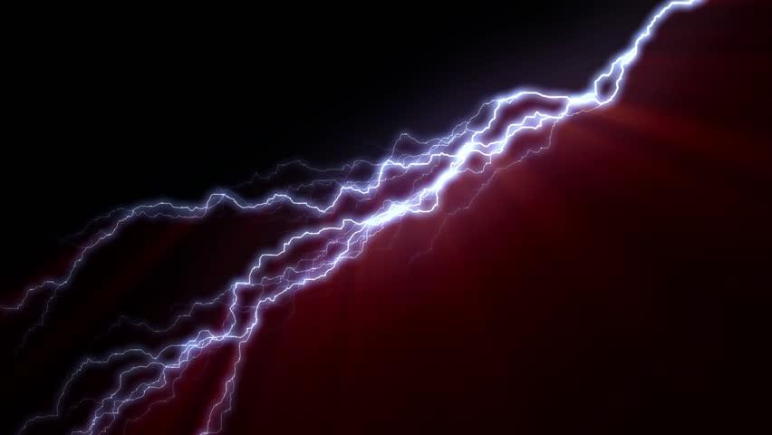10 Realistic lightning strikes over black background. Thunderstorm with flashing lightning thunderbolt | Shutterstock HD Video #21122674