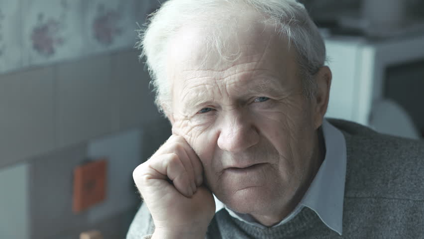 Portrait of old man looking at camera 4K | Shutterstock HD Video #21150430