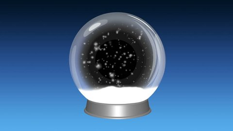 Snow globe with looping snow