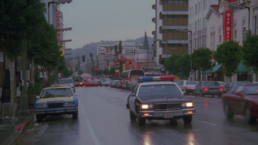 Day Hollywood Blvd after rain with wet streets, Los Angeles streets | Shutterstock HD Video #21173098