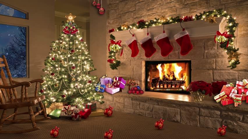 Christmas TV Studio Set - Virtual Green Screen Background Loop