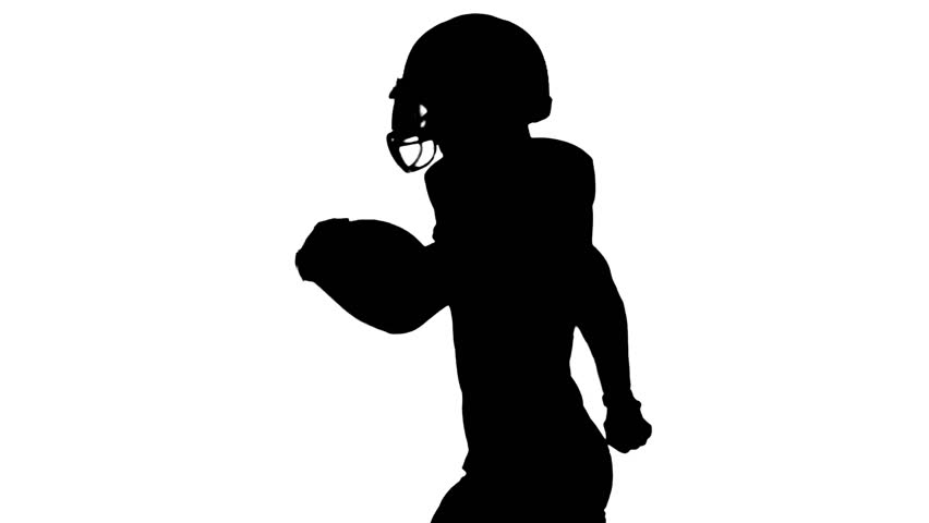 American football player running with the ball and throws it. Slow motion | Shutterstock HD Video #21211810