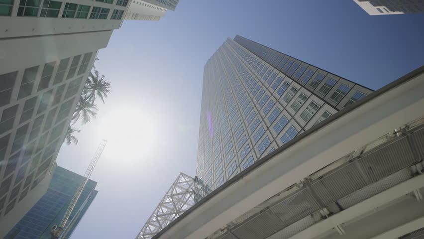 Downtown Miami, Street scene with skyscrapers, streets, traffic, Miami, Florida, USA, Sep 2016, camera movement | Shutterstock HD Video #21243610