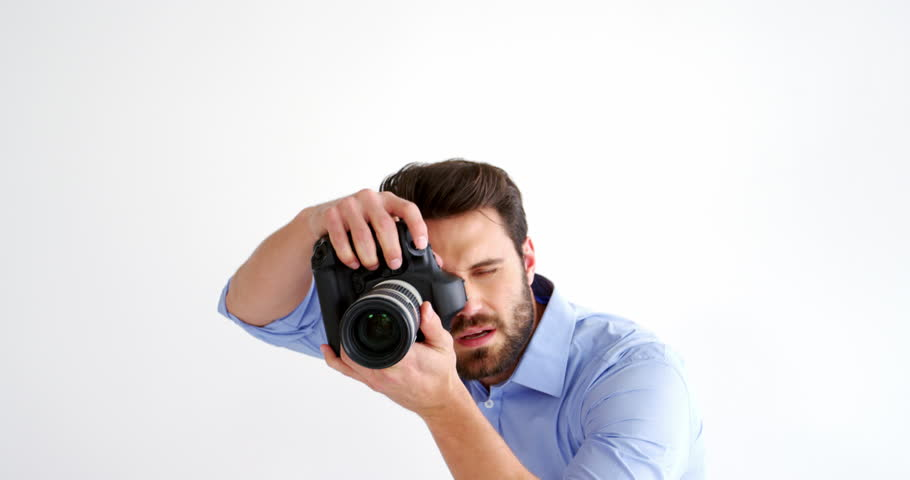 Photographer Taking Photo With Professional Stock Footage Video 100 Royalty Free 21268660