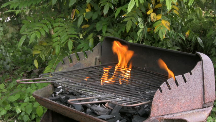 Lighting Outdoor Barbecue Fire In Stock Footage Video 100 Royalty Free 212830 Shutterstock