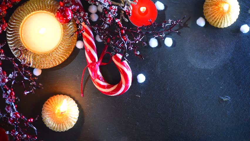 christmas holiday food background with stock footage video