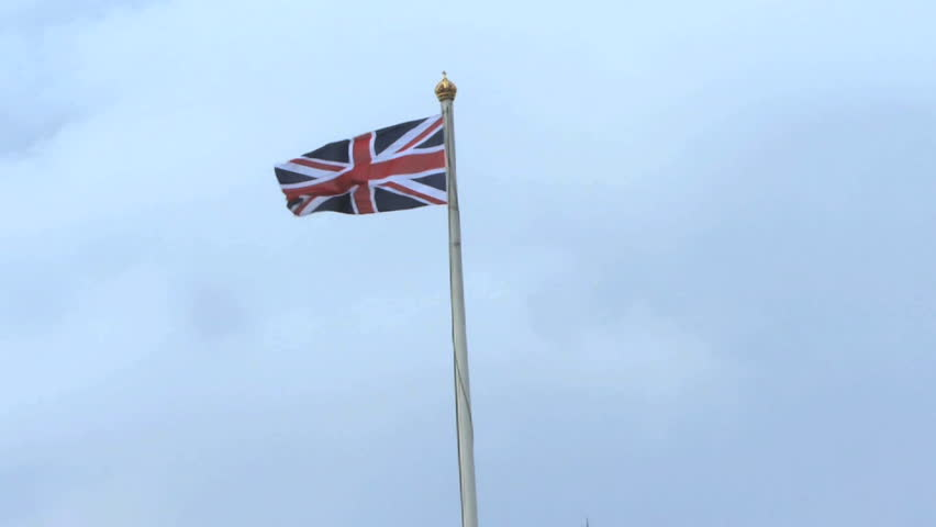 Union Jack Flag on top of Buckingham Palace, United Kingdom London