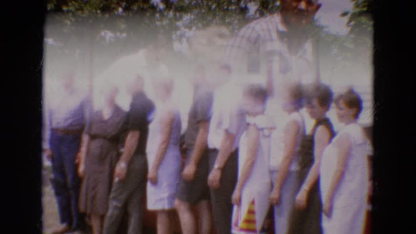 DILLER, NEBRASKA 1968: people are posing for picture taking   Shutterstock HD Video #21369448