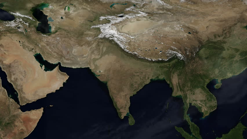 Map of asia himalayan mountains seasons changing time lapse 3d flat map animation of india the himalayas area time lapse a gumiabroncs Image collections
