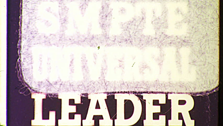 THE END Super 8 Vintage Damaged Film Leader Texture Loop