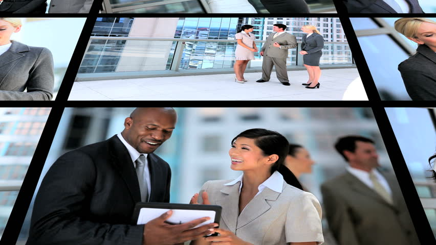 Montage successful business people modern technology | Shutterstock HD Video #2149544