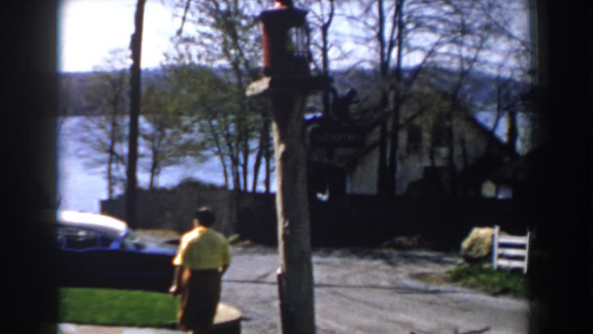 MICHIGAN 1959 Woman Walking Up The Sidewalk To Her Home
