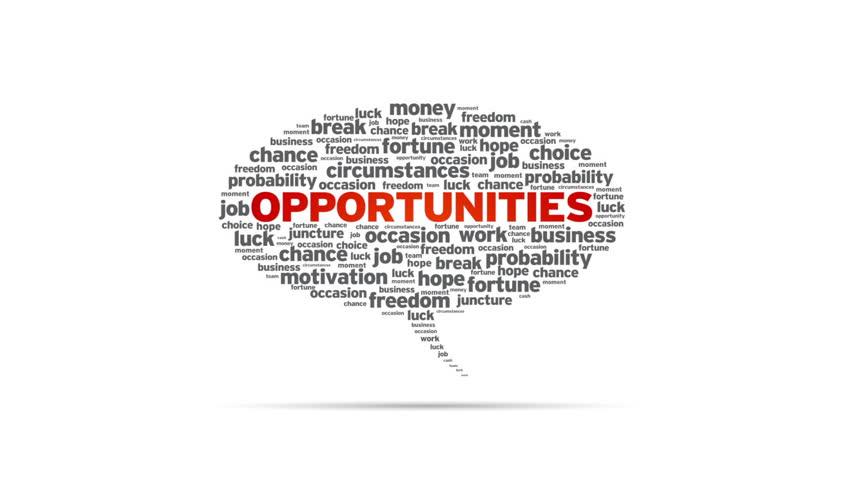 Spinning Opportunities Speech Bubble | Shutterstock HD Video #2154680