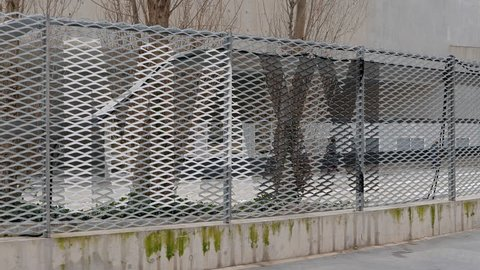 Fencing MAXXI Rome, Italy - February 21, 2015: is a national museum of contemporary art and architecture.