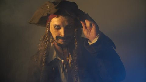 man dressed as pirate