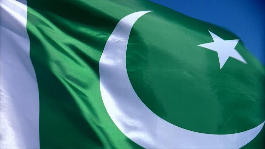 Closeup of Pakistan flag