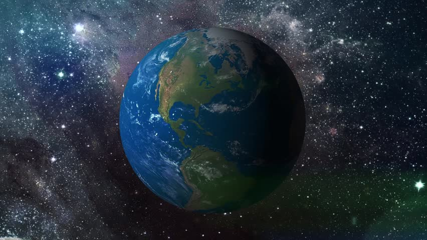 3d Earth Animation Universe Zoom Background Stock Footage