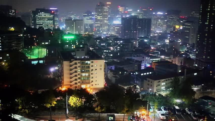 Megapolis region with illumination at autumn evening   Shutterstock HD Video #21689200