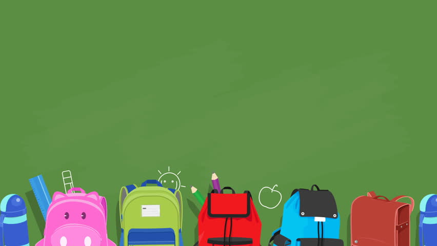 back to school animated background stock footage video