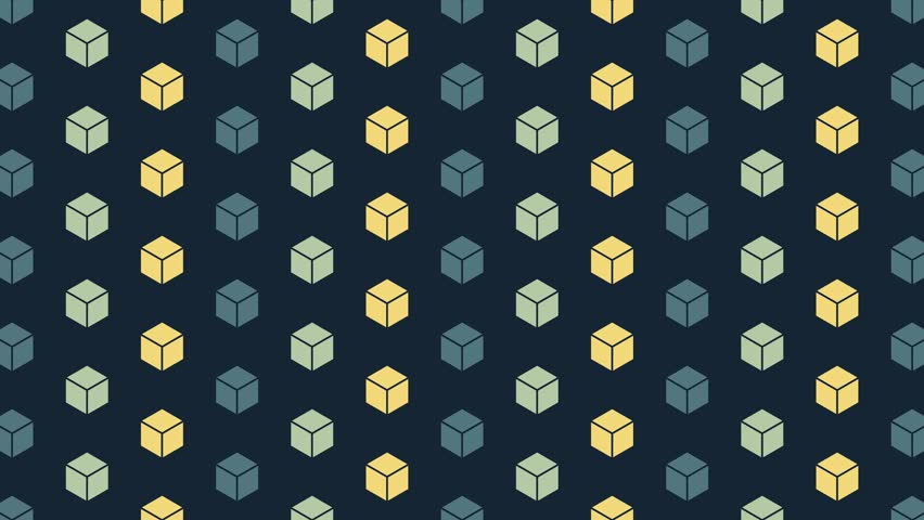 Crumbling cubes artistic hexagonal pattern. Seamless animation. More colors available in portfolio | Shutterstock HD Video #21717880