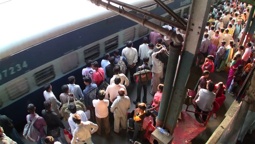 DELHI - NOV 13: People waiting for their train in the Delhi Junction Railway Station on November 13, 2011 in Delhi, India. Delhi Junction is the oldest railway station of Delhi city.