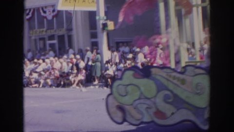 NORFOLK VIRGINIA 1966: footage of plant city's chamber of commerce strawberry festival