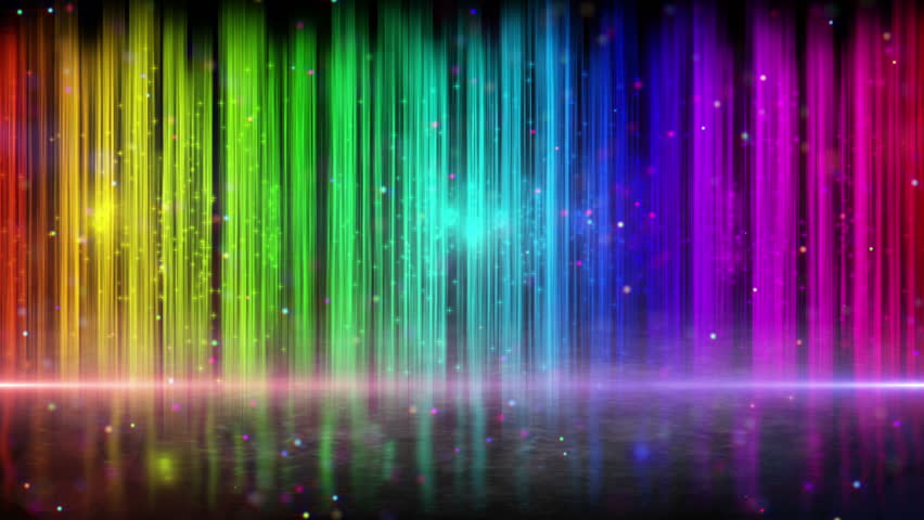rainbow color stripes. computer generated abstract loopable motion blue background HD 1080p.