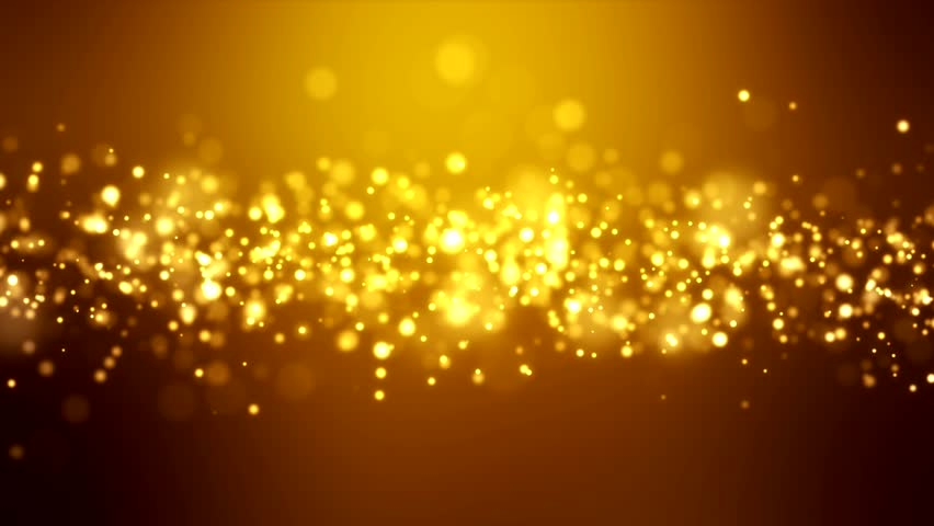 Video animation of christmas golden light shine particles bokeh over golden background - holiday concept #21837910