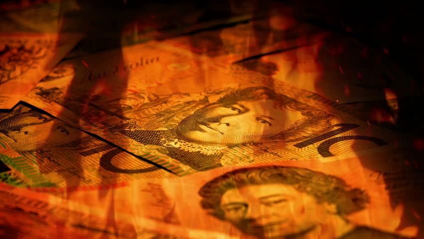 Australian Banknotes Rotating In Fire   Shutterstock HD Video #21856510