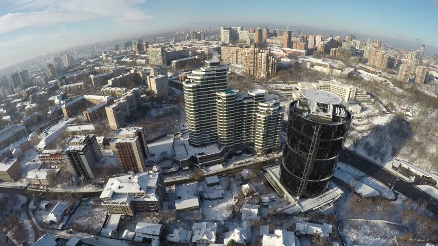 Kiev winter, Pechersk, aerial view, raw #21928540