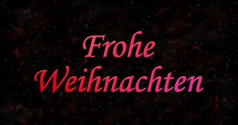 Merry Christmas In German, Frohe Weihnachten Stock Footage Video ...