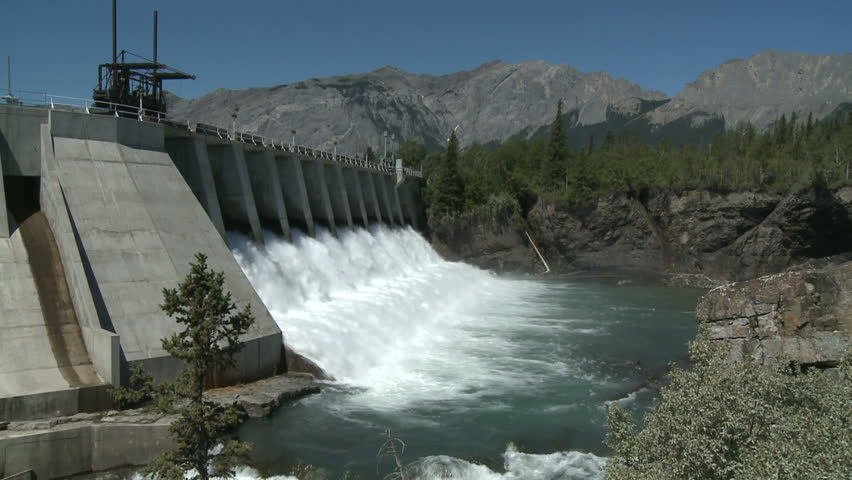 Spillway of hydro electric power dam
