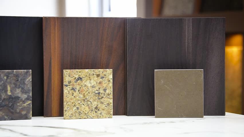 Counter Countertop Samples Of Granite Stock Footage Video 100